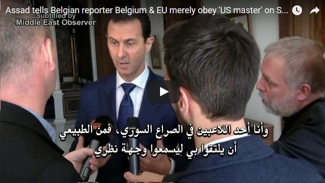 assad belgian reporters