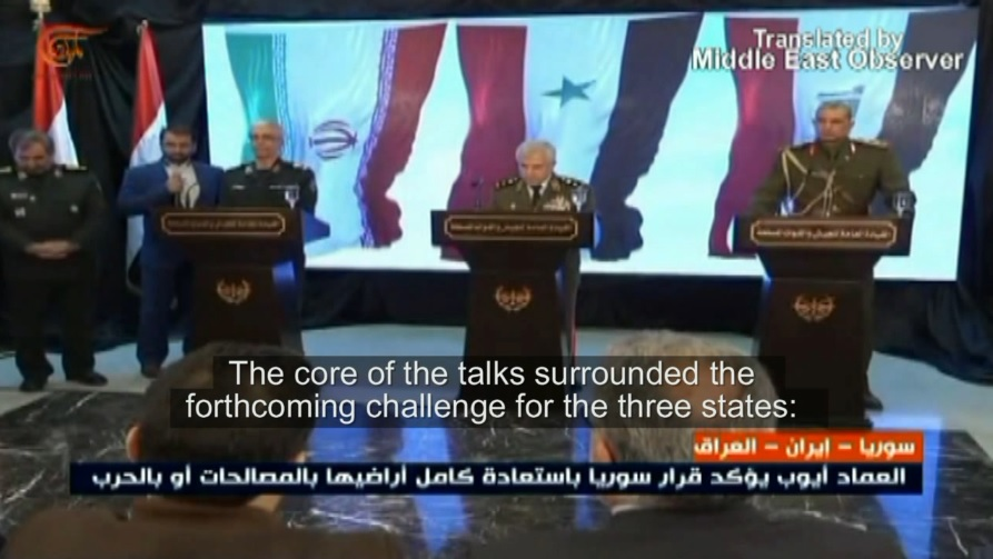 Trilateral meeting Damascus